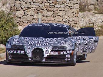 Фотошпионы увидели гибридного преемника Bugatti Veyron
