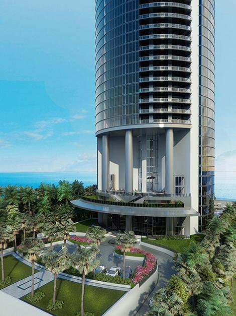 Мини-Panamera появилась на иллюстрации жилого дома в Майами