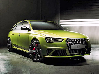 Audi покрасила универсал RS4 в эксклюзивный цвет Porsche