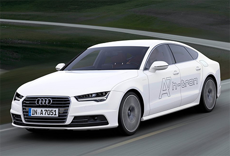 Компания Audi представила в Лос-Анджелесе A7 с двумя электромоторами. Фото 2