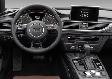 Компания Audi представила в Лос-Анджелесе A7 с двумя электромоторами. Фото 5