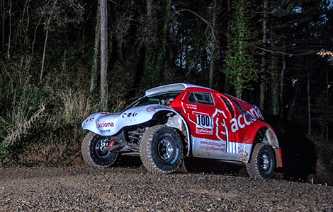 Машина компании Acciona примет участие в ралли-рейде 2015 года. Фото 1