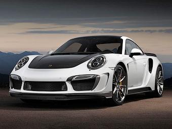 Porsche 911 получил золотой интерьер
