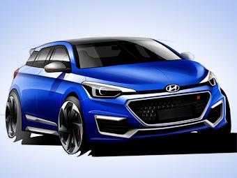 Появилось первое изображение хот-хэтча Hyundai