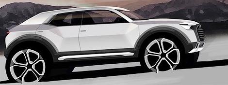Вседорожник Audi Q1 построят на шасси Volkswagen Tiguan