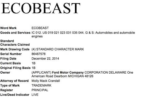 Производитель зарегистрировал название EcoBeast