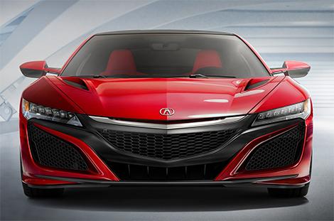 Acura NSX оснастили силовой установкой с тремя электромоторами