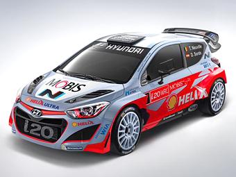 Команда Hyundai показала раскраску новой раллийной машины