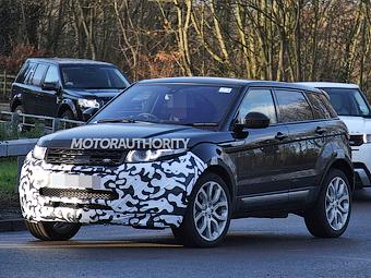 Range Rover Evoque начали готовить к обновлению