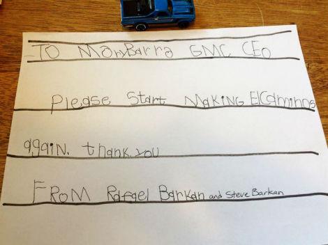 Шестилетний американец попросил Мэри Барра вернуть Chevrolet El Camino