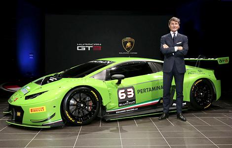 Новый Huracan GT3 примет участие в кузовной серии Blancpain Endurance
