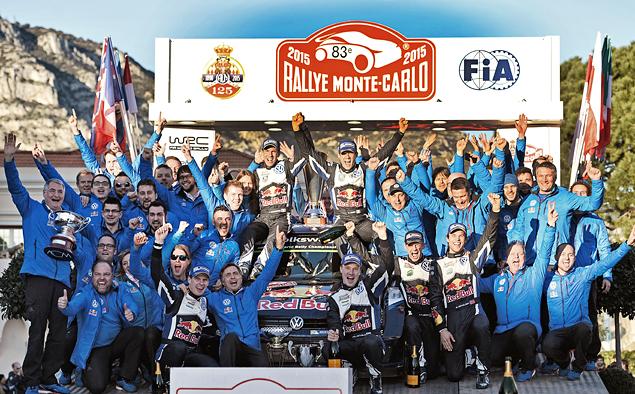 Потеснить пилотов Volkswagen на подиуме Ралли Монте-Карло не смог никто. Фото 1