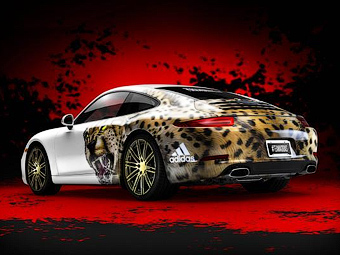 Porsche и Adidas сделали для американских футболистов особый 911-й