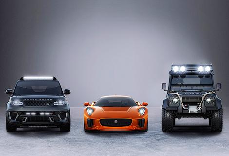 В новом фильме про Бонда появятся Range Rover Sport и Jaguar C-X75