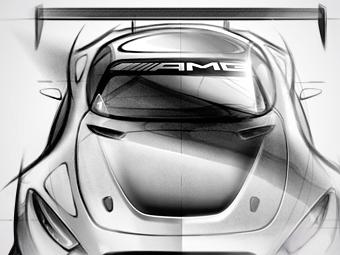 «Мерседес» намекнул на внешность гоночного суперкара AMG GT