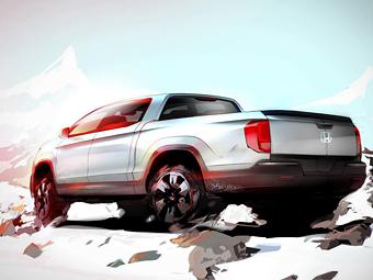 Honda показала дизайн пикапа Ridgeline нового поколения
