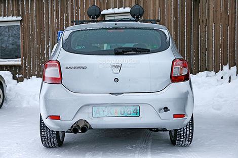 Хот-хэтч Sandero RS сфотографировали в Швеции. Фото 2
