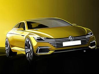VW показал дизайн предвестника нового Passat CC