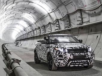 Открытый Range Rover Evoque испытали в лондонской подземке