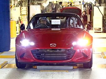 Mazda начала производство родстера MX-5 нового поколения