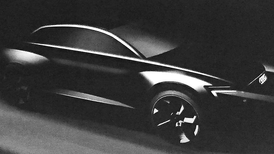 Компания Audi показала изображение электрокроссовера Q6