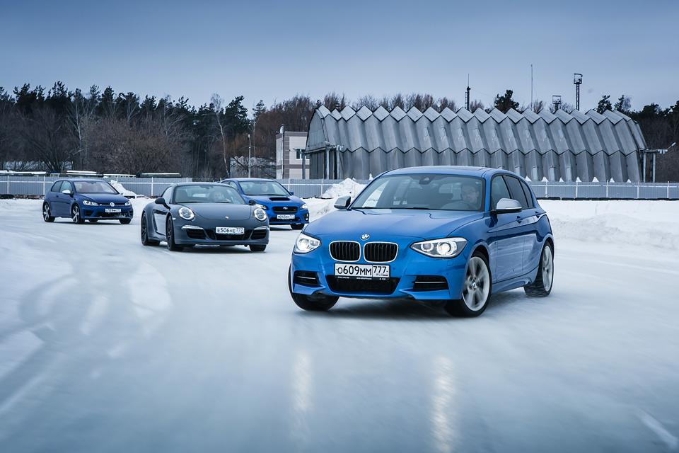 Лучшие полноприводные спорткары на льду гоночной трассы