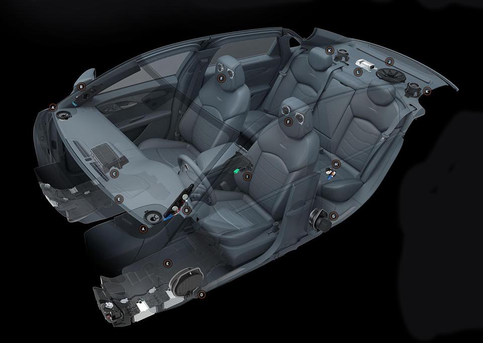 Большой седан CT6 оснастят стереосистемой Bose с 34 динамиками