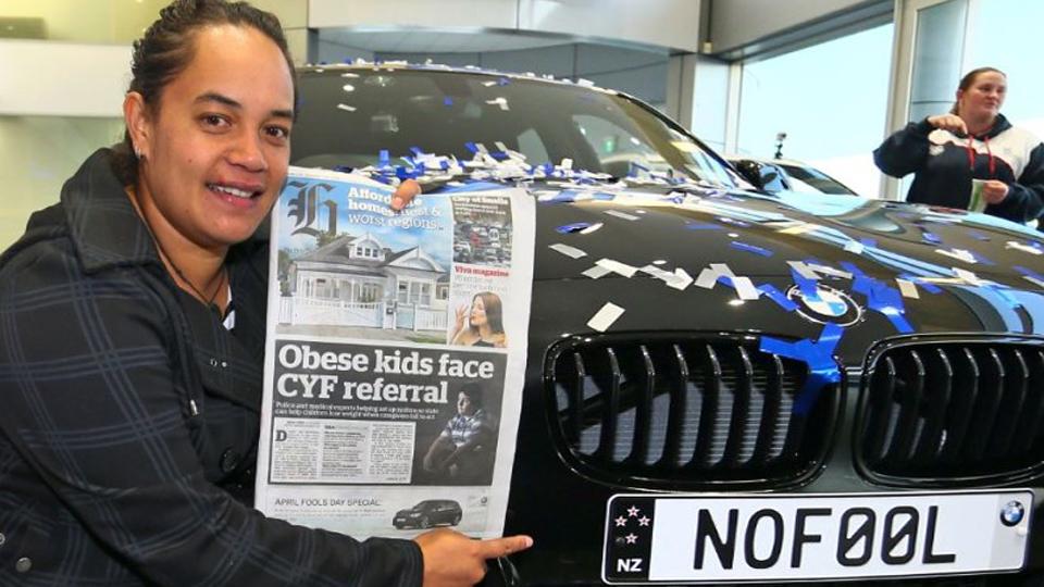 Новозеландка получила на 1 апреля новую «копейку» BMW. Фото 1