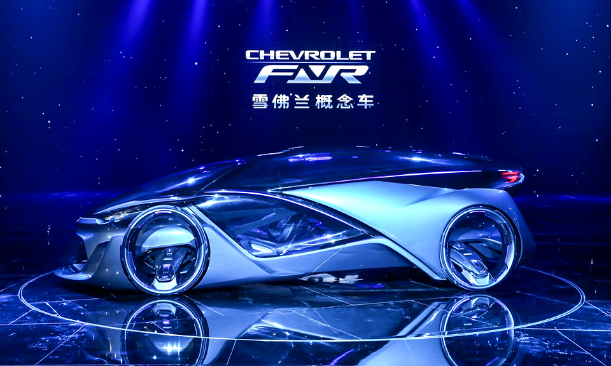 Компания Chevrolet привезла в Шанхай концепт с «крыльями дракона»