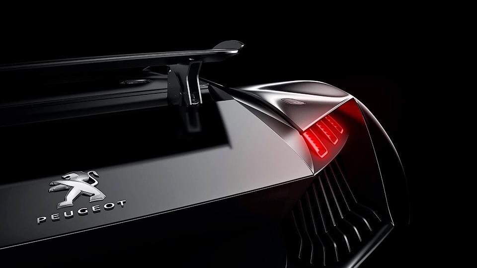 Компания Peugeot показала тизер неизвестного суперкара