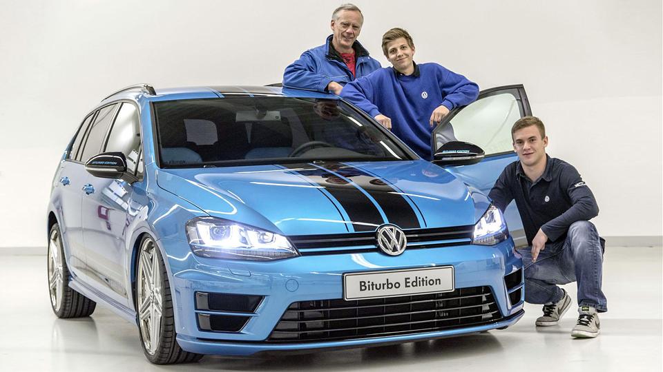 Стажеры VW оснастили Golf 240-сильным дизелем от «Пассата»