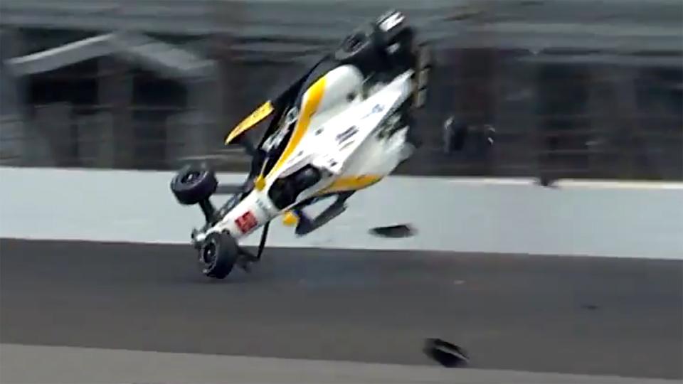 На тренировке «Инди 500» взлетел второй болид за два дня