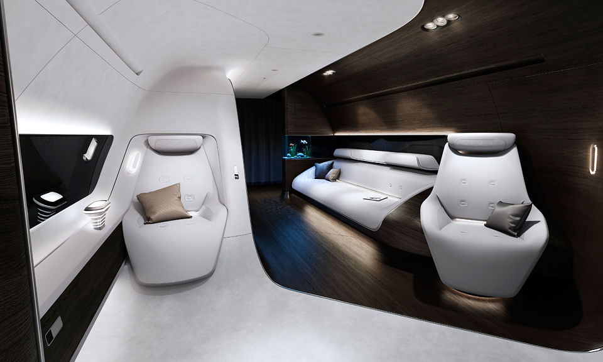 «Мерседес» нарисовал для «Люфтганзы» интерьер VIP-самолета