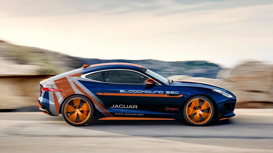 Спецверсию Jaguar F-Type посвятили сверхзвуковой машине с тремя двигателями