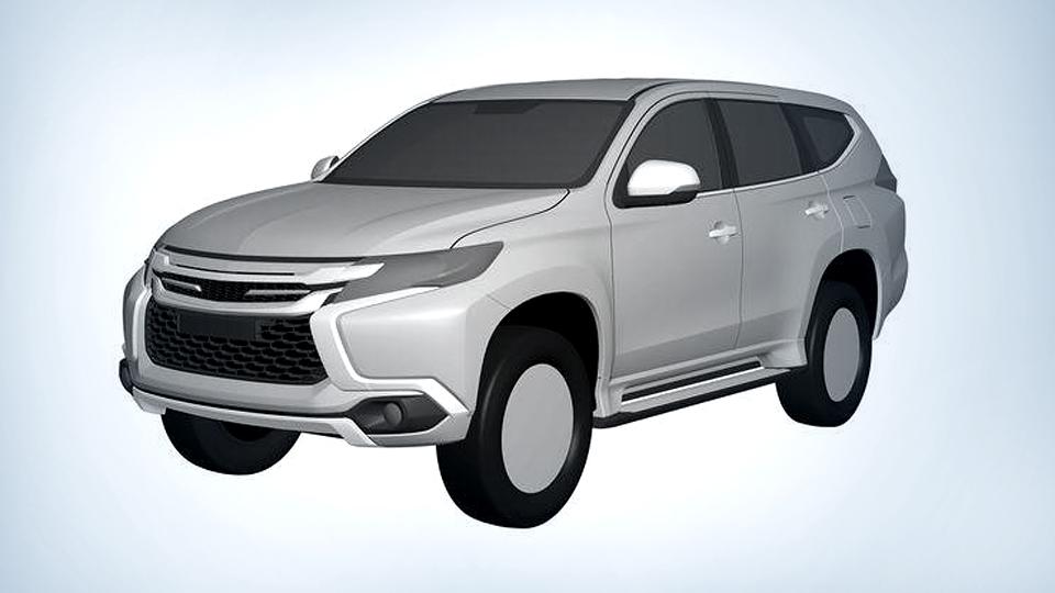 Дизайн нового Pajero Sport раскрыли на патентных изображениях