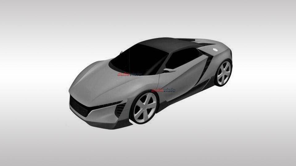 В Сеть попали снимки нового суперкара Honda