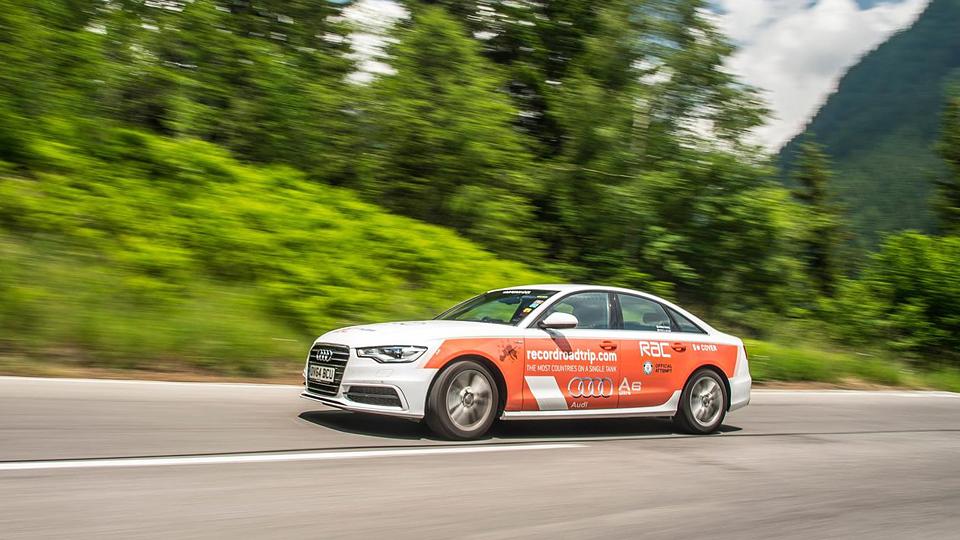Дизельный Audi A6 проехал на одном баке рекордное число стран