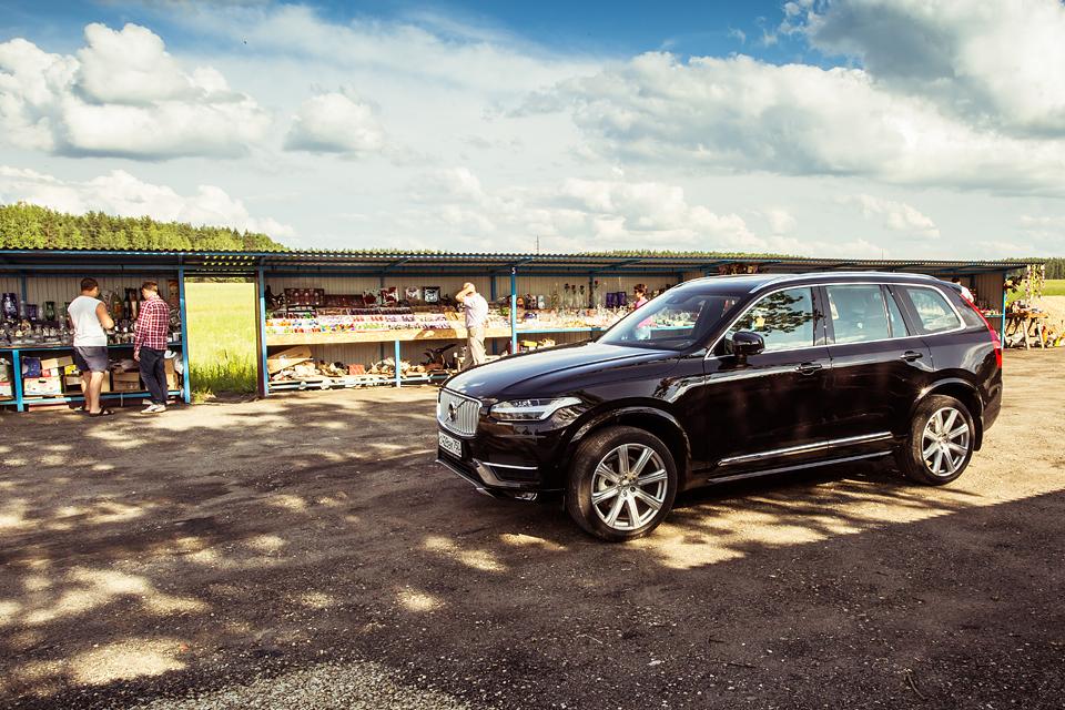 21-дюймовые колеса вроссийских ямах иматрешка вместо рычага «автомата»: тест Volvo XC90. Фото 14