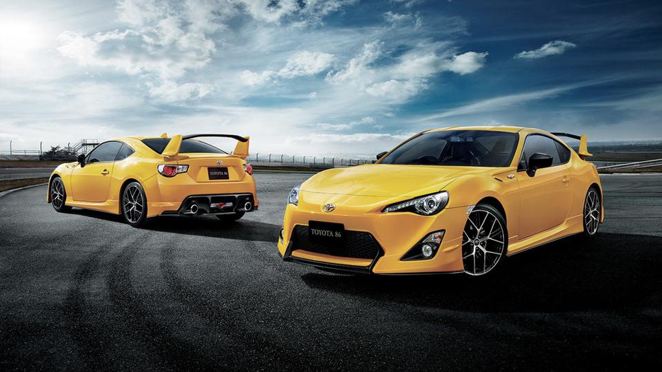 Купе Toyota GT86 получило «желтую» спецверсию