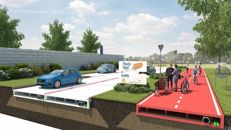 Нидерландцы предложили строить пластиковые дороги