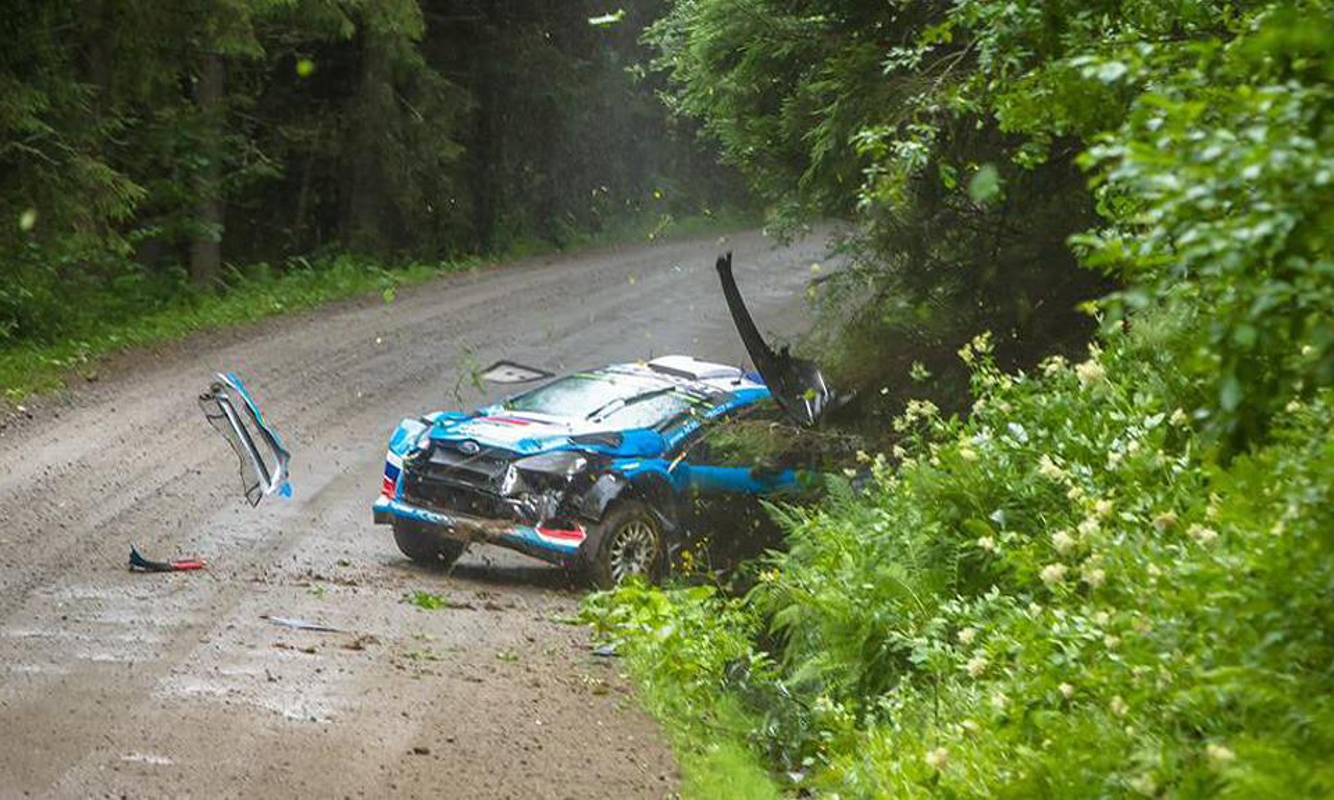 Возвращение россиян в WRC сорвалось из-за аварии на тестах