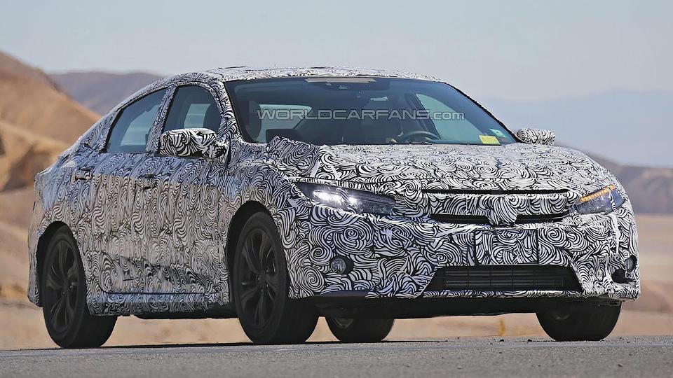 Новый седан Honda Civic обзаведется светодиодными фарами