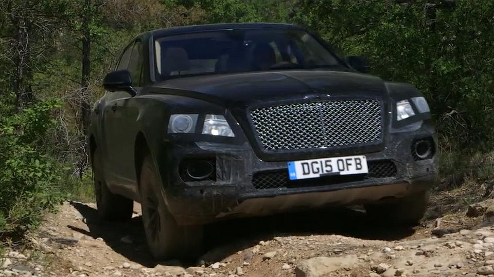Bentley Bentayga испытали на бездорожье