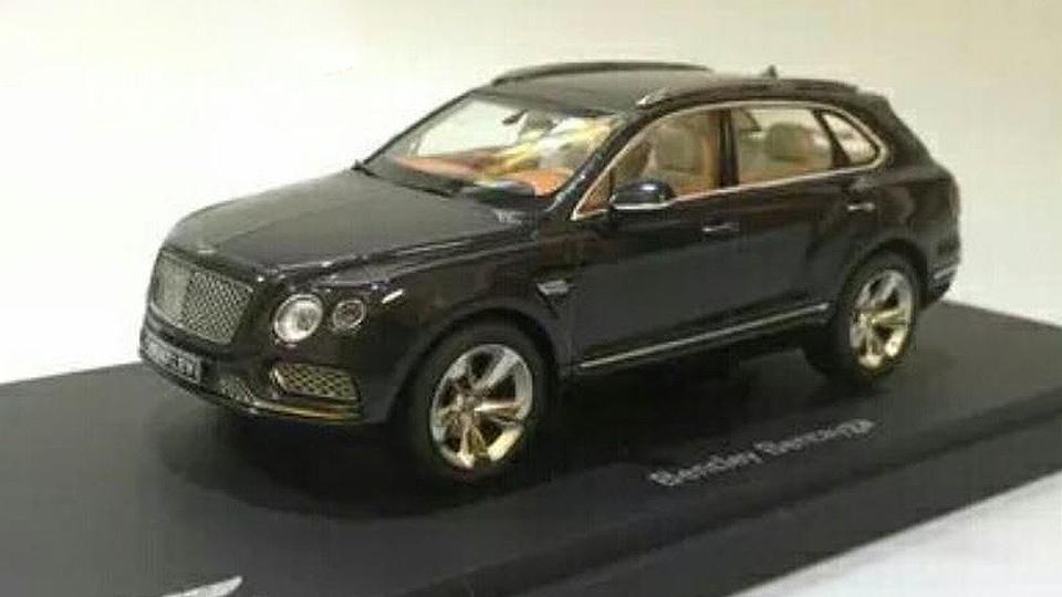 Внешность внедорожника Bentley рассекретили на игрушке