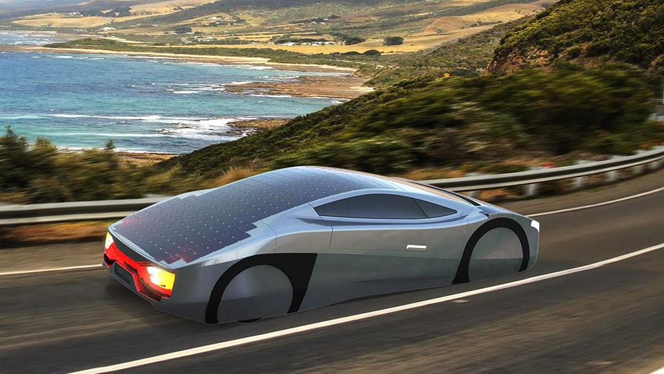 Австралийцы сделали спорткар на солнечных батареях