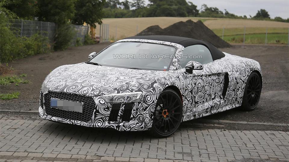 Audi вывела на тесты открытый R8 следующего поколения