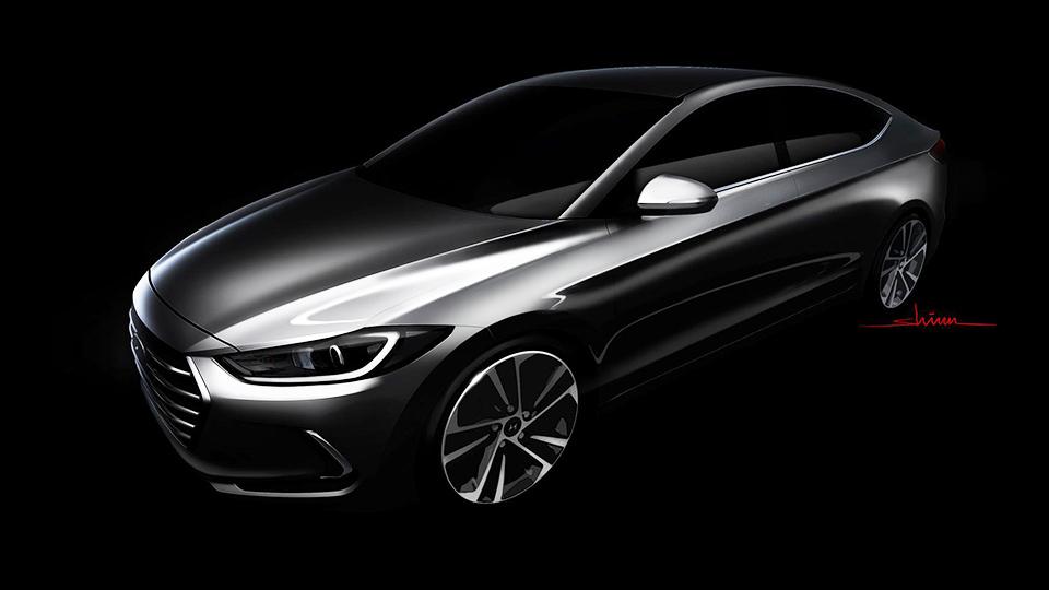 Компания Hyundai показала дизайн Elantra нового поколения
