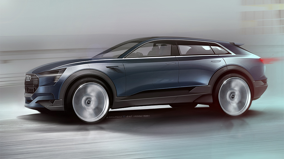 Audi привезет во Франкфурт предвестника электрического кроссовера