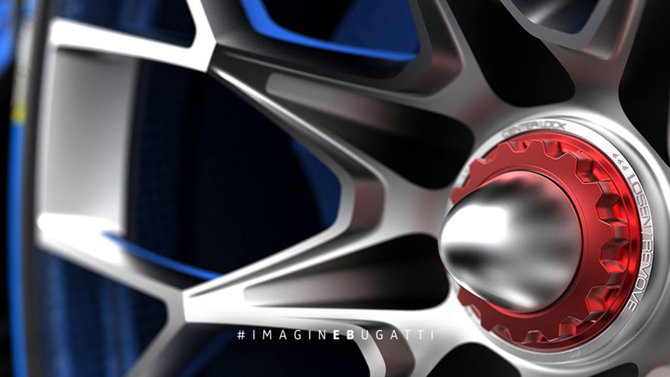 Компания Bugatti показала колесо виртуального суперкара