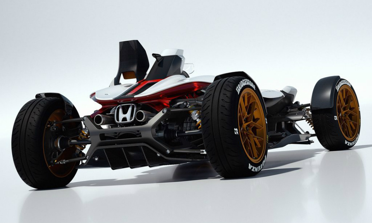 Концепт построили в честь 50-летия первой победы «Хонды» в Формуле-1. Фото 1
